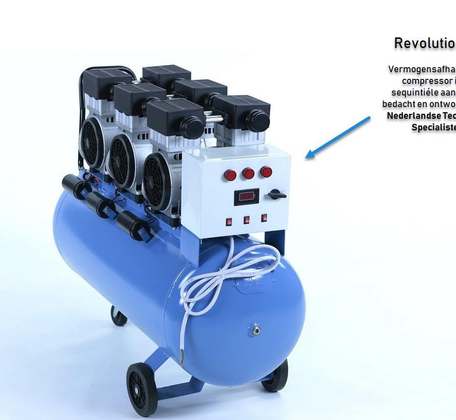 TM 150 Liter Professionele Low Noise Compressor 4,5HP 230v