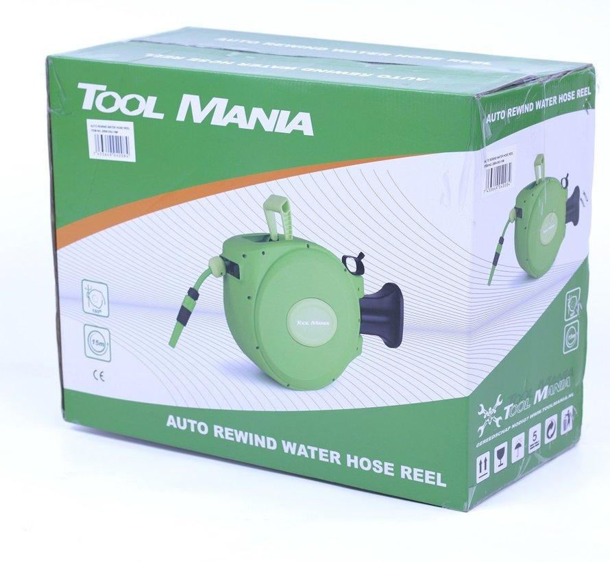 TM 15 Meter Garden Hose Reel, Wall Hose Box, Water Reel