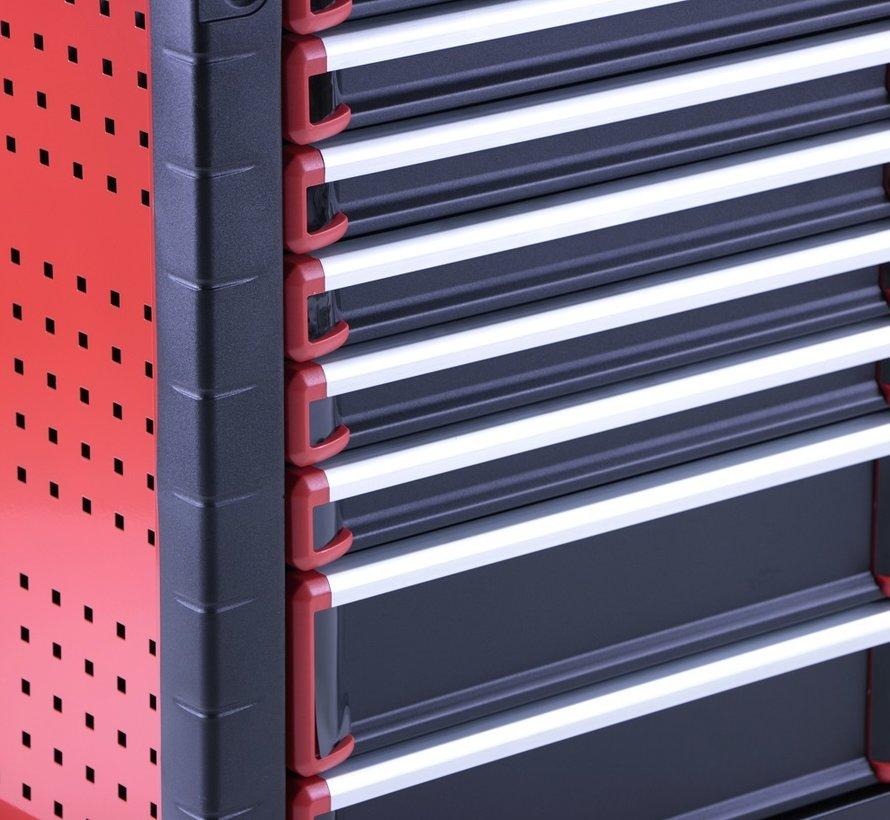 TM 8 Schubladen premium Werkzeugwagen SCHWARZ / Rot