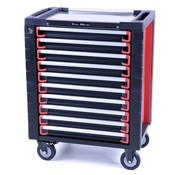 TM TM 10 Drawers premium Tool trolley BLACK / Red