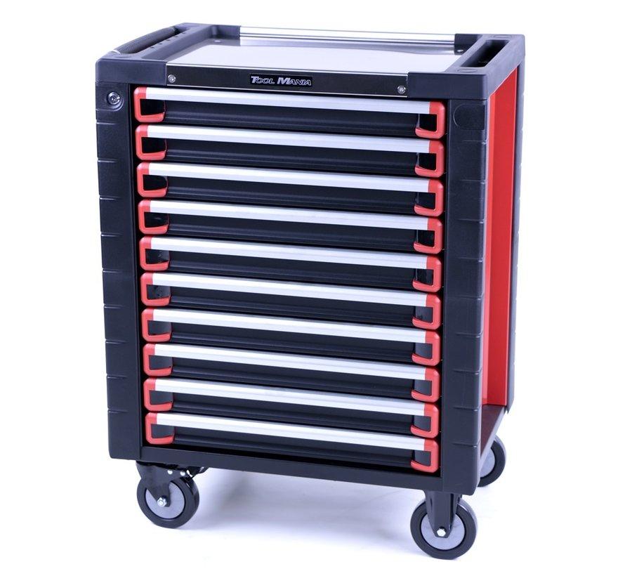 TM 10 Drawers premium Tool trolley BLACK / Red