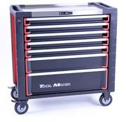 TM TM 7 Drawers premium Tool trolley BLACK / Red XL
