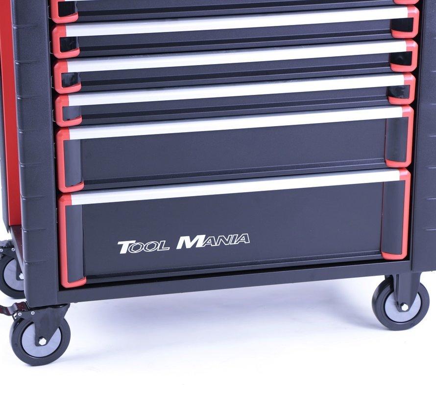 TM 7 Laden premium Gereedschapswagen ZWART/Rood XL