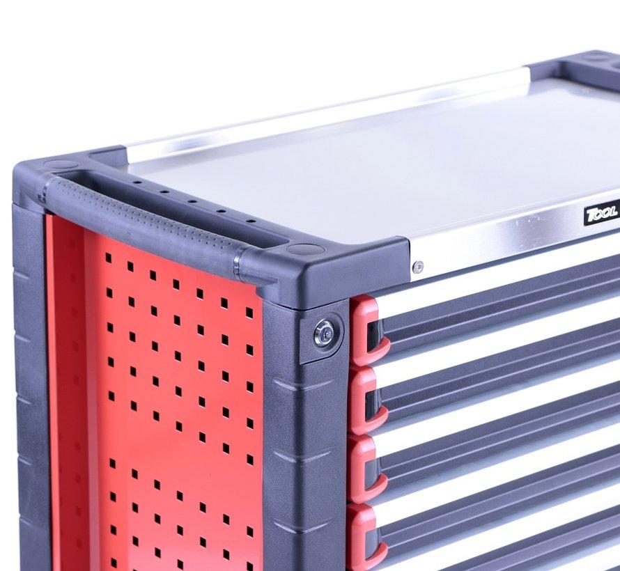 TM 7 Drawers premium Tool trolley BLACK / Red XL