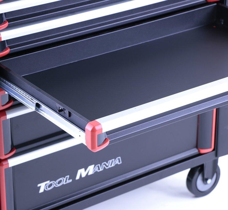 TM 7 Schubladen Premium Werkzeugwagen SCHWARZ / Rot XL