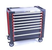 TM TM 8 Drawers premium Tool trolley BLACK / Red XL