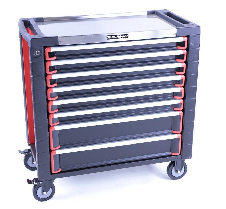 TM 8 Drawers premium Tool trolley BLACK / Red XL