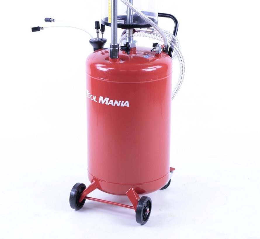 TM Oil collection system / Oil Extractor with Steel container RED