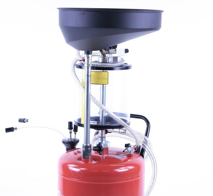 TM Ölsammelsystem / Ölextraktor mit Stahlbehälter ROT