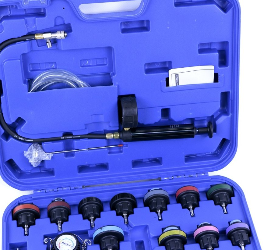 TM 28 Piece Cooling system diagnosis / extortion and filling set