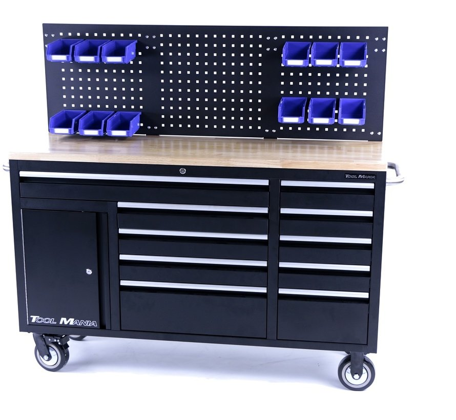 TM 158 cm 10 Drawers Workbench with Door and Rear panel