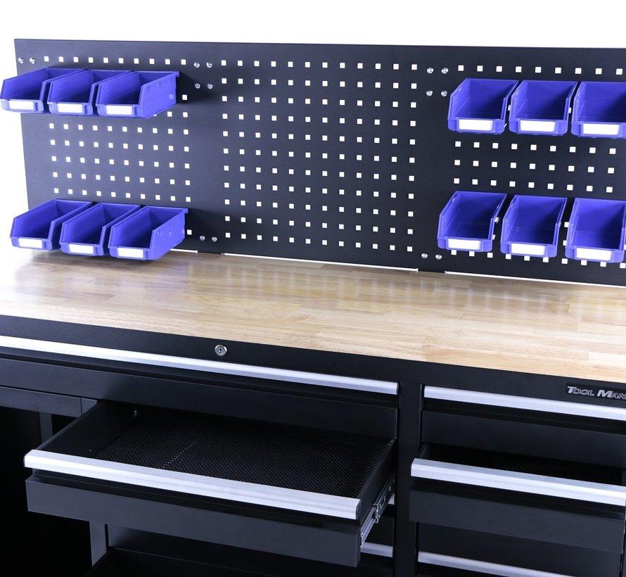 TM 158 cm 10 Laden Werkbank met Deur en Achterwand