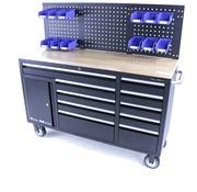 TM TM 158 cm 10 Schubladen Werkbank mit Tür und Rückwand