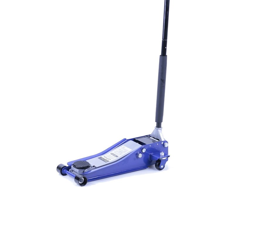 Extra low car jack, garage jack, 2.5 ton double plunger