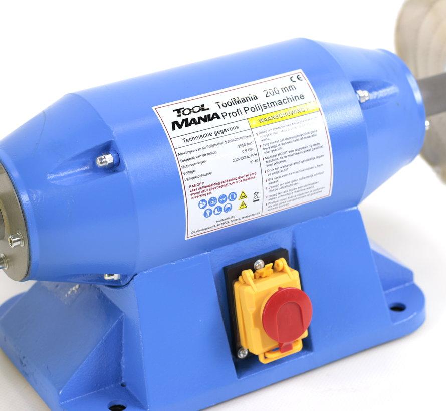 TM 200 mm Profi Polijstmachine 230v