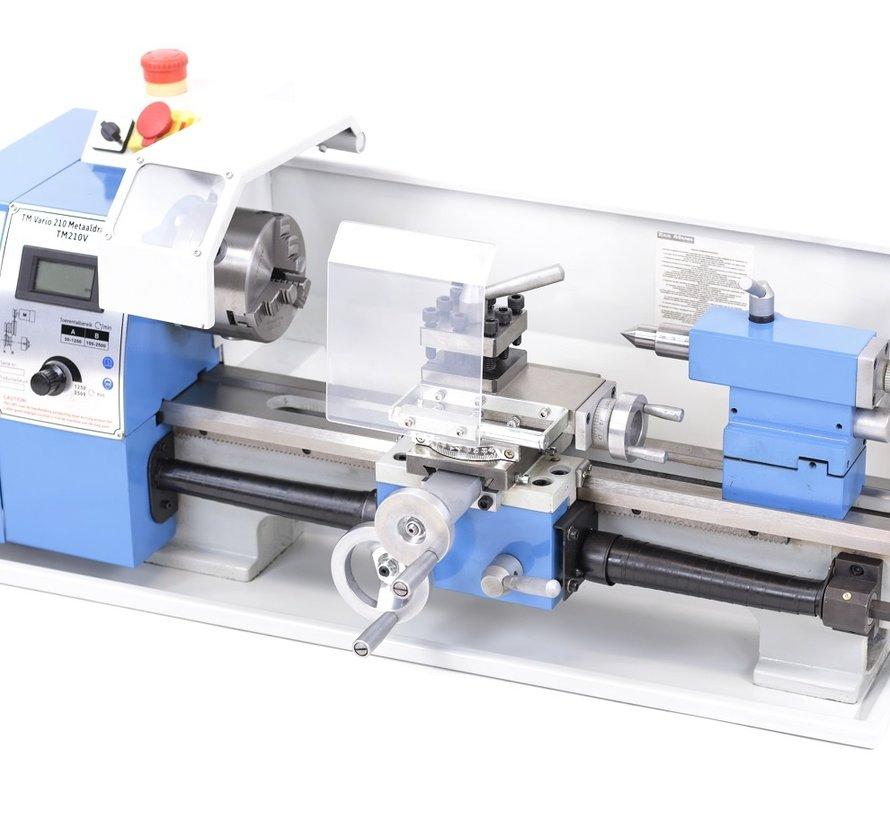TM 210 x 400 Vario Metal lathe with digital display