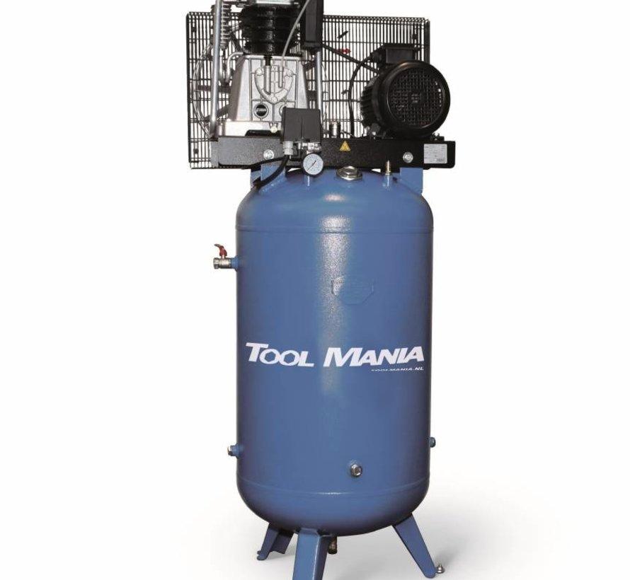 TM 90 Liter Compressor met verticale tank 3 Hp, 400v