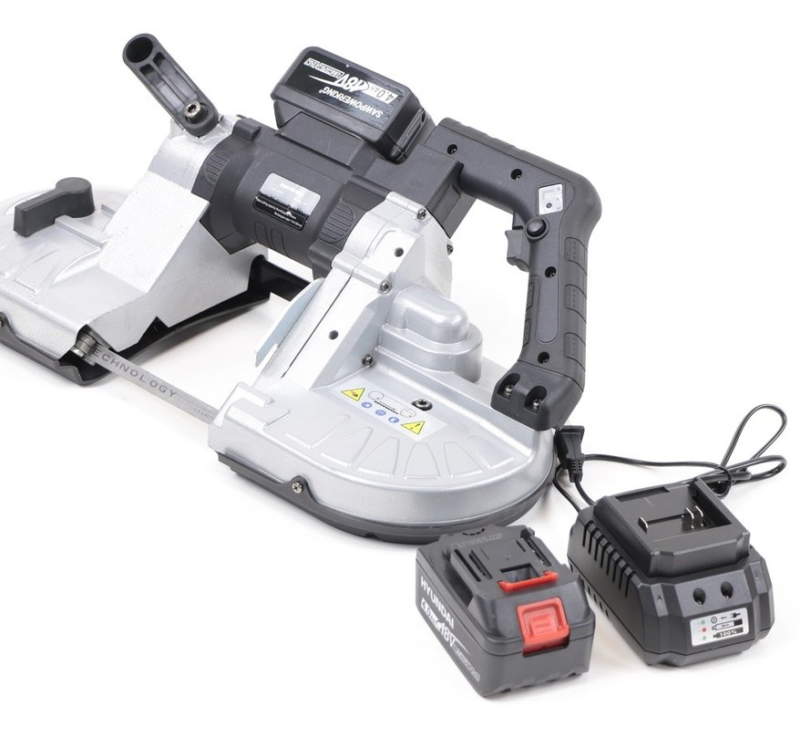 TM 114 Professional Portable Variable Metal Band Saw Machine with 18v battery