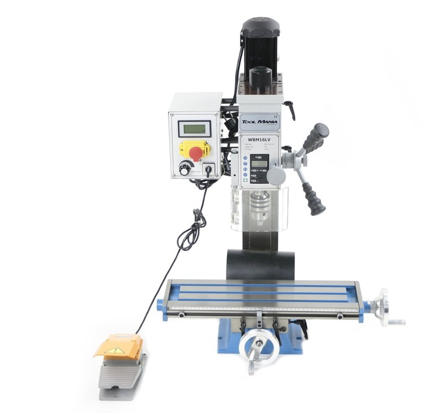 TM BF 16 Milling Machine Large Table V2 with Foot Control