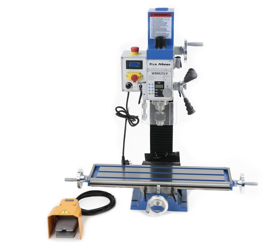 TM BF 25 Milling Machine Large Table V2 with Foot Control