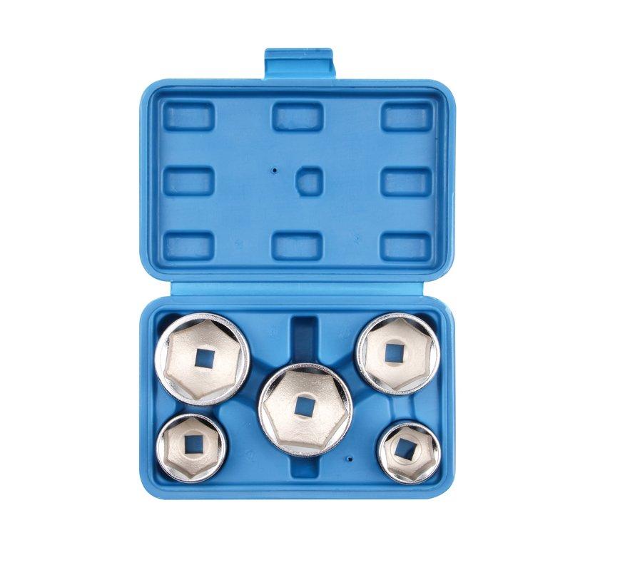 TM 5 Piece Oil Filter Disassembly Set - Oil Filter Socket Set