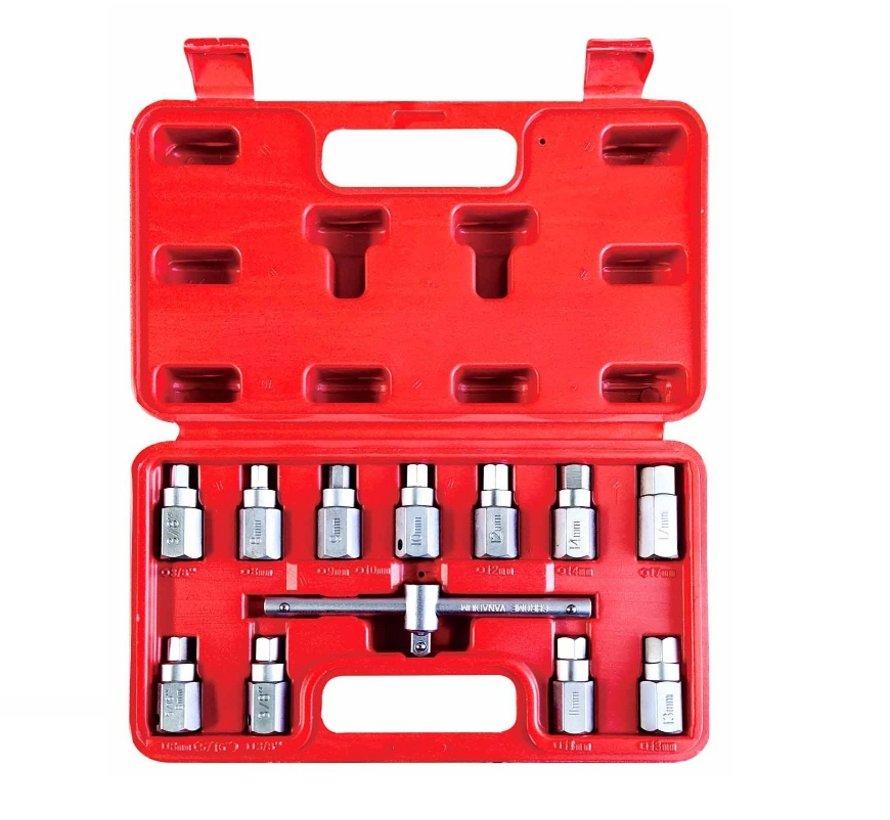TM 12 Piece Crankcase Plug Socket Set