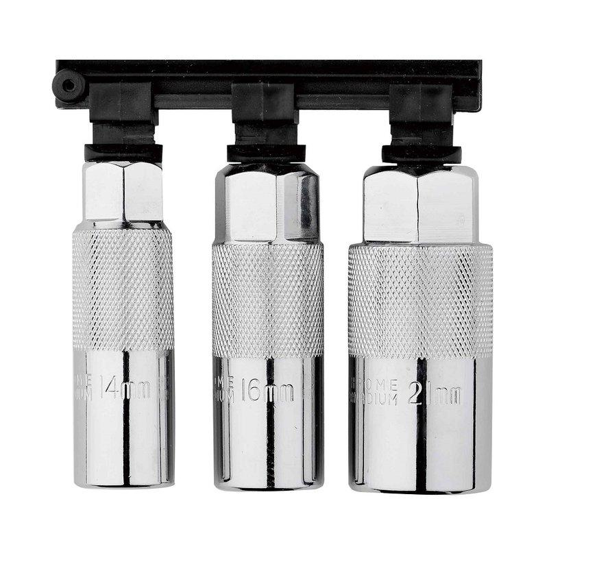 """TM Zündkerzen-Steckschlüsselsatz 3/8 """"14, 16 und 21 mm"""