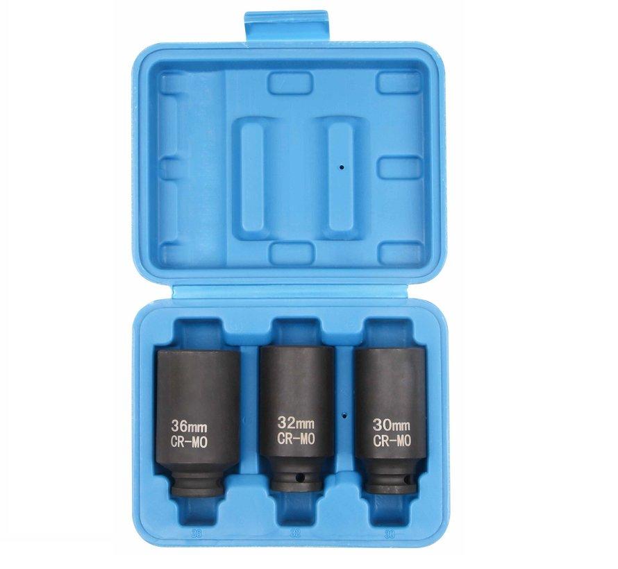"TM 1/2 ""Drive shaft Power Socket set, Mounting set 30, 32 and 36mm"