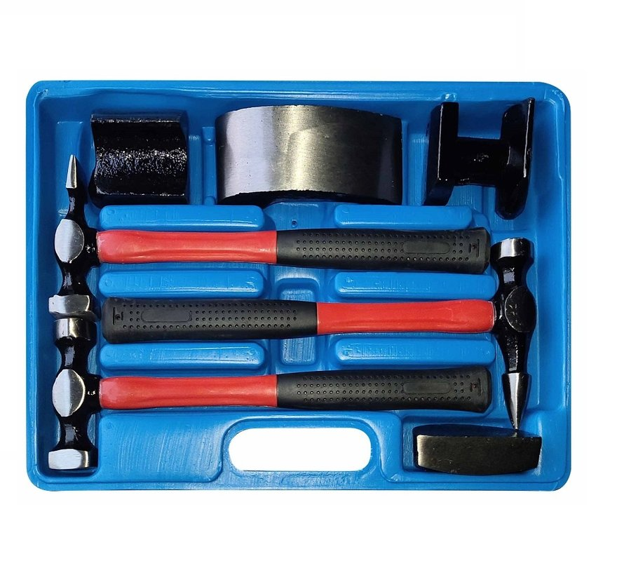 TM 7 Piece Hammer Dent Removal Set with Anti Slip Fiber Glass Stems