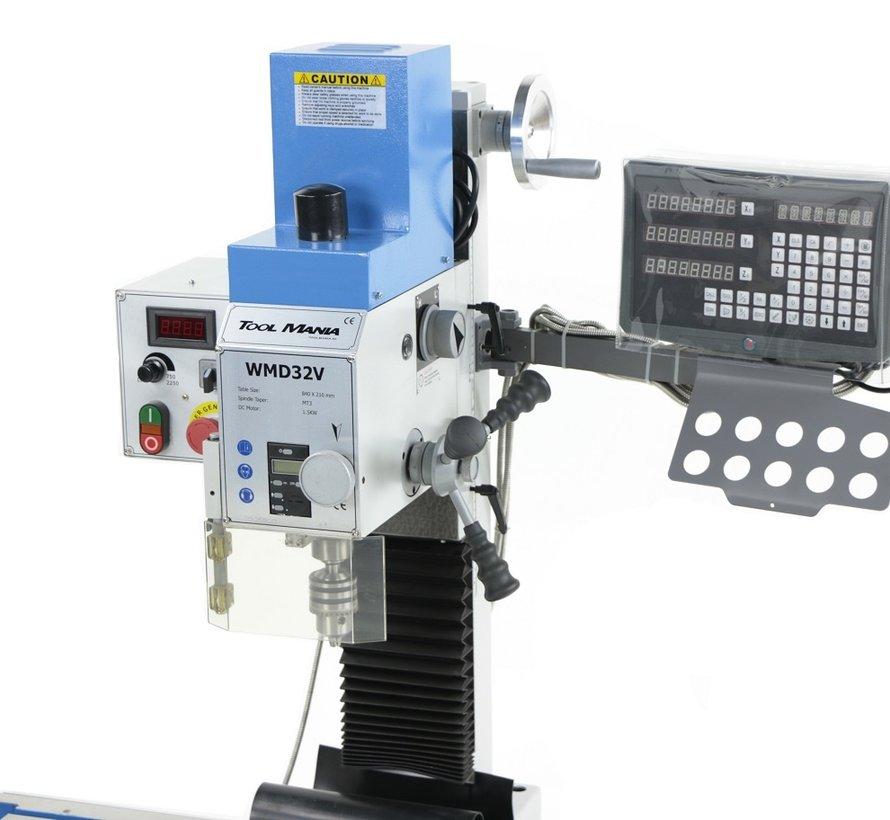 TM BF 32 Fräsmaschine Großer Tisch V2 mit digitalem SINO 3-Achsen-Auslesesystem
