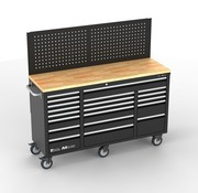 TM TM 20 Drawers Tool trolley / Workbench Worktop with back wall