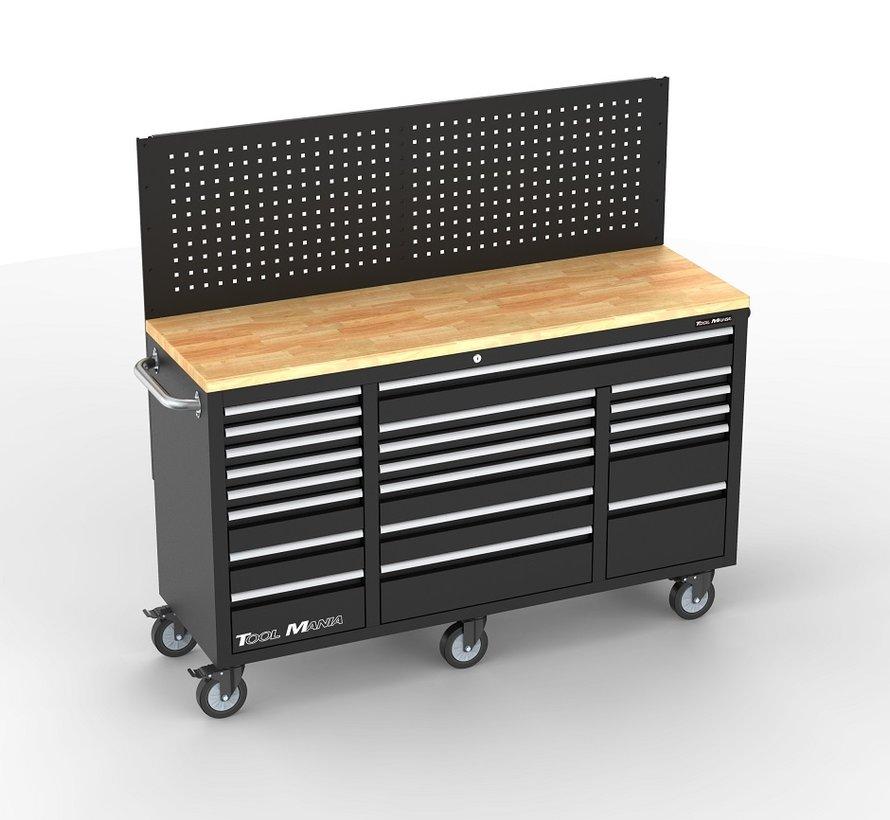 TM 20 Schubladen Werkzeugwagen / Werkbank Arbeitsplatte mit Rückwand