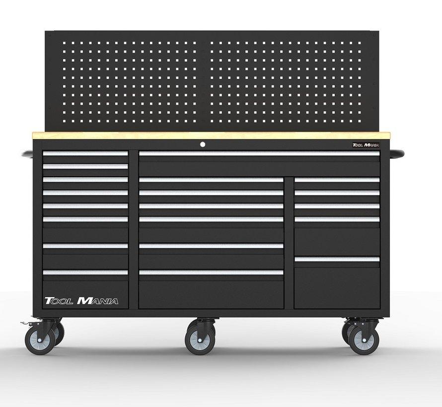 TM 20 Laden Gereedschapswagen / Werkbank Werkblad met Achterwand