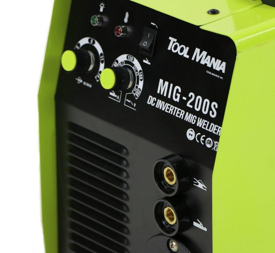TM MIG - 200S Lasapparaat met Digitaal Display en IGBT Technologie