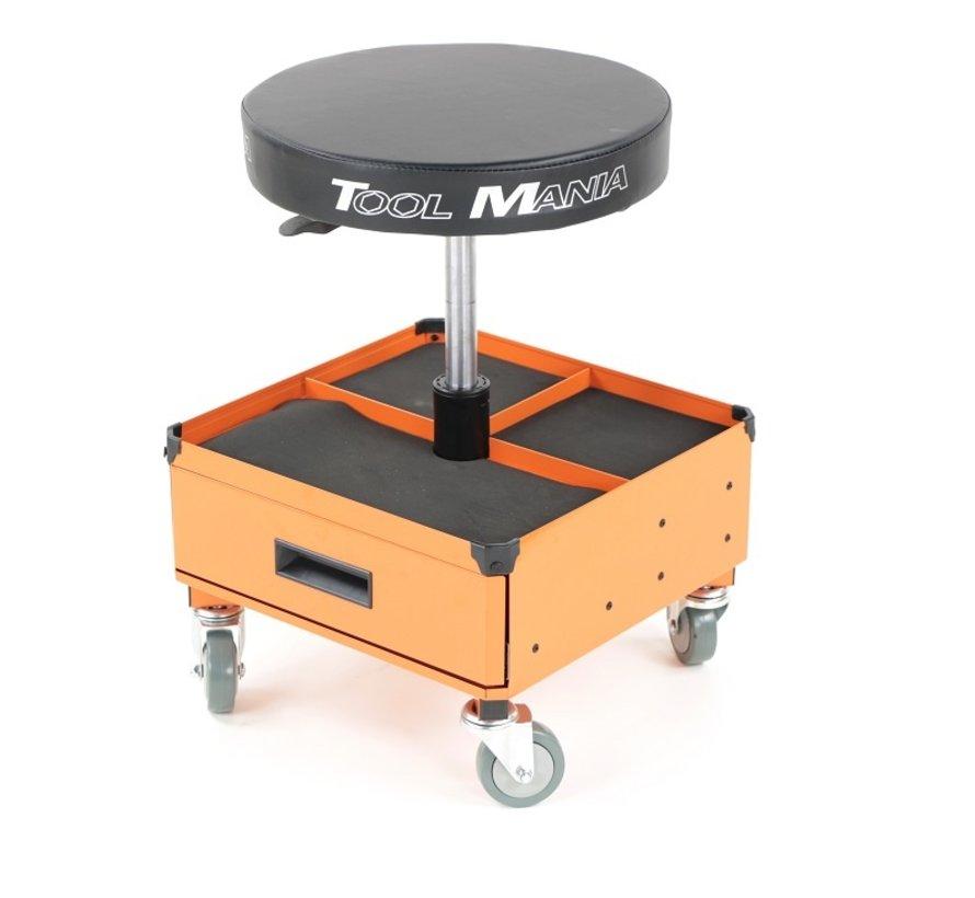 TM Mobile Werkstatthocker, Stuhl, Sitzhocker mit 3 Werkzeugschubladen