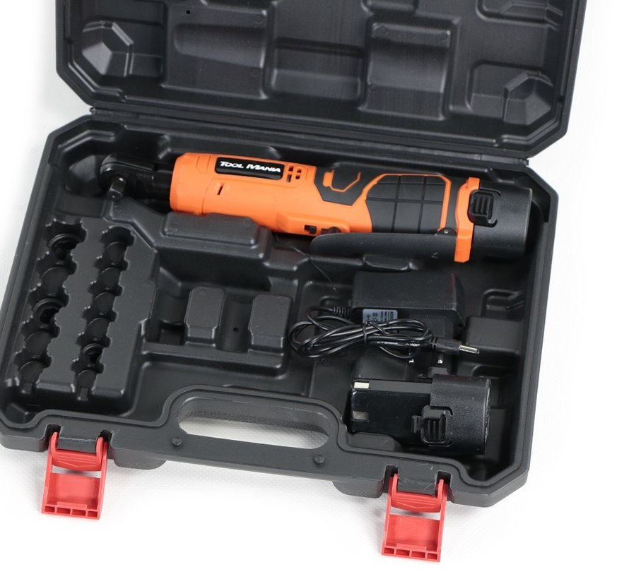 "TM 1/4 ""Batterieratschenschlüssel 12 Volt 1,5 AH Li-Ion - 55 Nm"