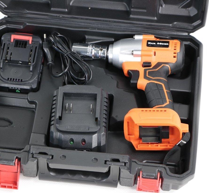 TM Professionele 21 Volt 2,0AH Accu slagmoersleutel met 300NM