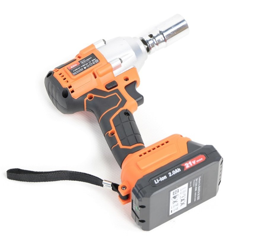 TM Professional 21 Volt 2.0AH Battery impact wrench with 300NM