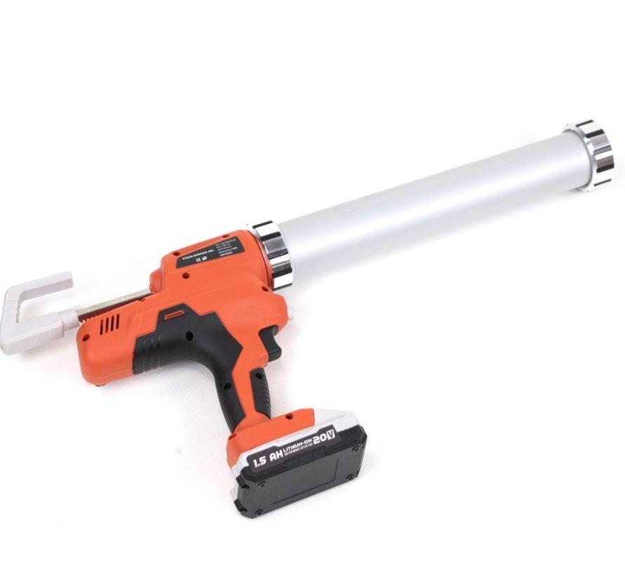 TM Electric Caulking Gun Complete 21 Volt 2.0 Ah Li-ion