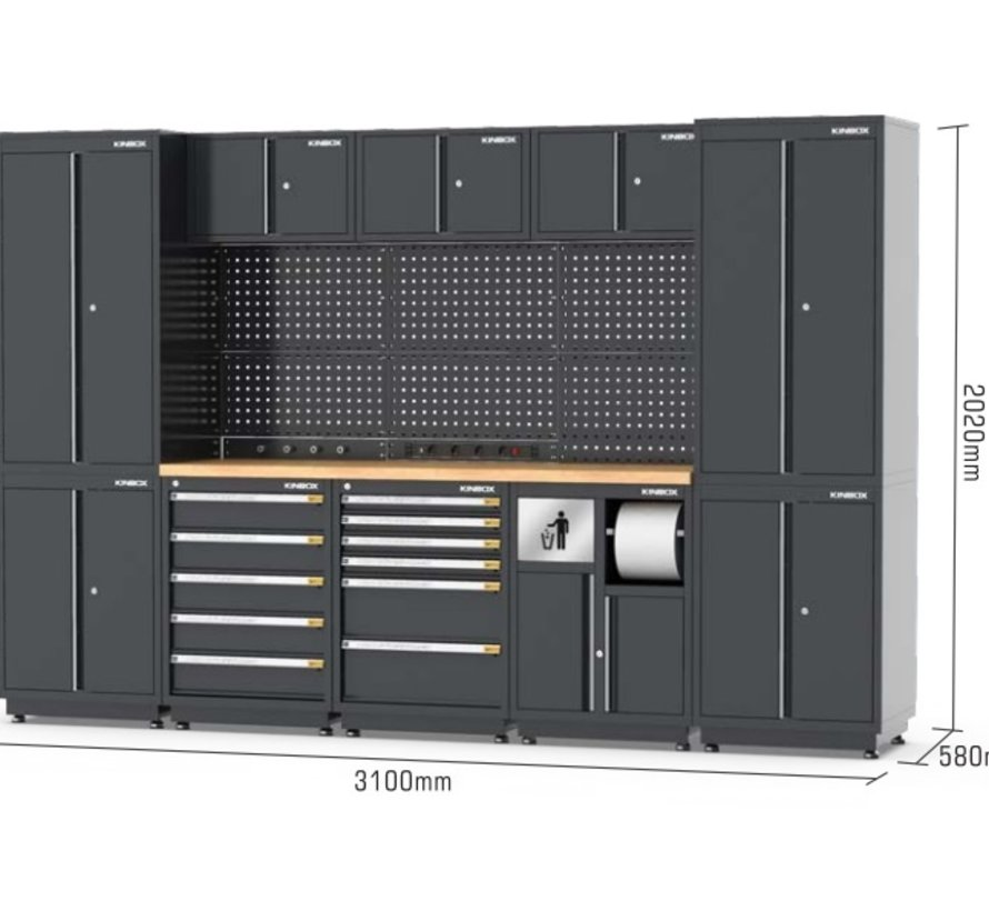TM STAND ALONE Modulares Werkstattsystem 25-tlg