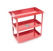 TM TM 3 Layer Universal Mobile Tool Trolley / Detailing Trolley - RED