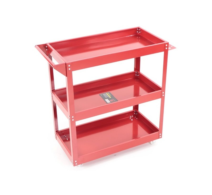 TM 3 Layer Universal Mobile Tool Trolley, Detailing Trolley - RED
