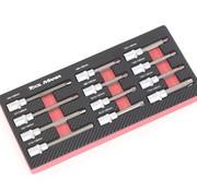 TM TM 12-teiliges Rib, Inbus, Torx 1/2 Sockel-Set Schaumstoff-Carbon-Look-Inlay