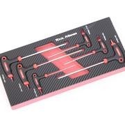 TM TM 6-teiliges T-Grip Hex-Set Schaumstoff-Carbon-Look-Inlay