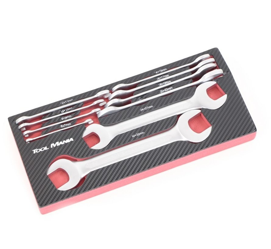 TM 10 Stück Double Open Ended Spanner Foam Carbon Look Inlay