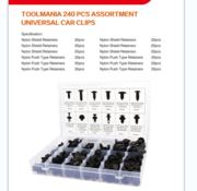 TM TM 240 Piece Assortment of trim clips for FORD, BMW, HONDA