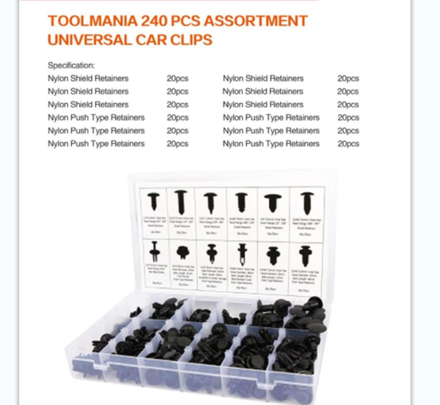 TM 240 Delige Assortiment bekleding clips voor FORD, BMW, HONDA