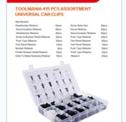TM TM 415 Piece Assortment trim clips for FORD , NISSAN , BMW , HYUNDAI , HONDA