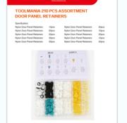 TM TM 210 Piece Assortment trim clips for BMW , BENZ , AUDI , JEEP
