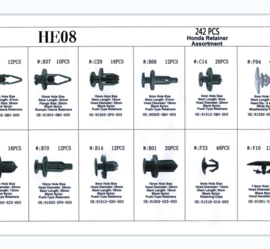 TM 242 Delige Assortiment bekleding clips voor HONDA
